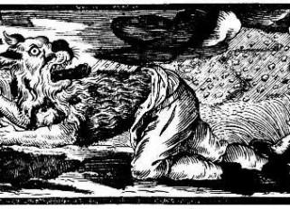 Werwolf, Deutscher Holzschnitt, 1722