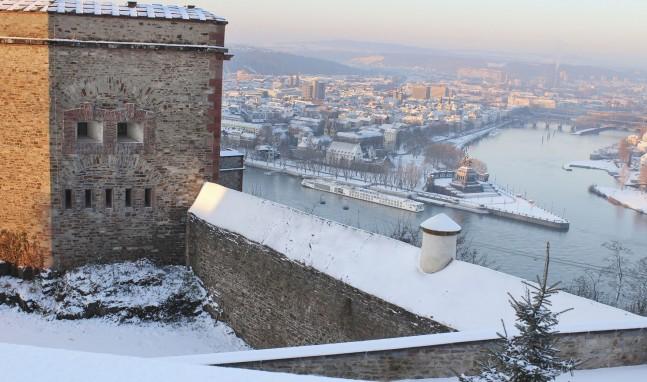 Winterzauber auf der Festung Ehrenbreitstein
